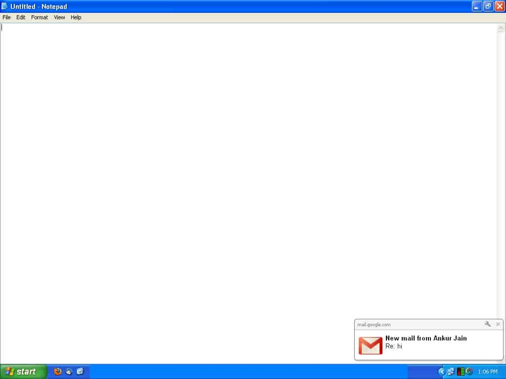 Desktop Notification For New Email And Chat Message 1