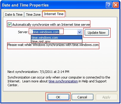 How to Synchronise Your Computer Time With The Internet Clock 7