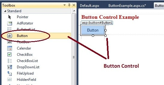 Button Control - a push button control in Asp.net