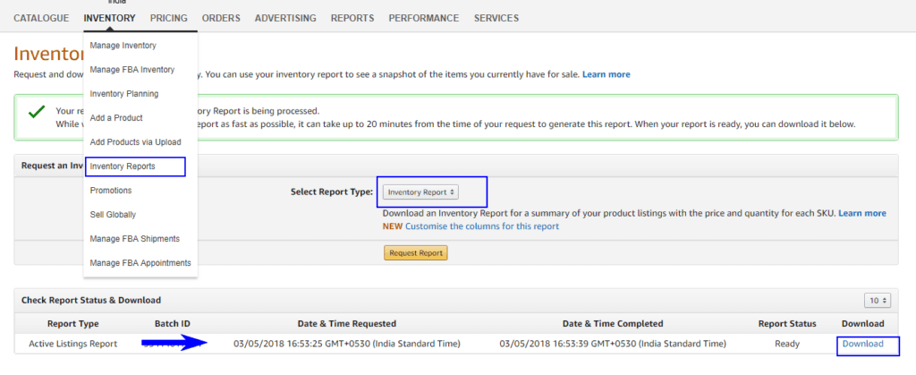 How to Export a Product List file from Amazon 23