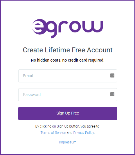 egrow sign up